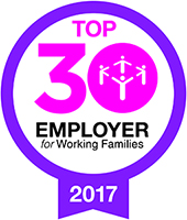 Working Families, Top 30 Employer - logo