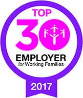 Working Families, Top 30 Employer - logo